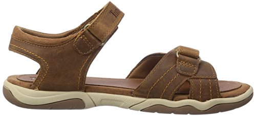 Timberland Active Casual Sandal Ftk_ek Oak Bluffs Leather 2 Strap, Sandales ouvertes mixte enfant Marron (Rust)
