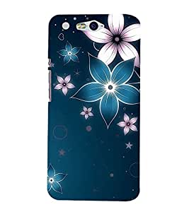 FUSON Snowflakes And Flowers 3D Hard Polycarbonate Designer Back Case Cover for InFocus M812