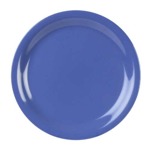 Excellante 12-Piece Narrow Rim Plate, 7-1/4-Inch, Blue by Excellante Narrow Rim