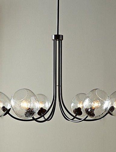 Wie&Joe 60W lampadario classico con 6 luci e vetro Bubble Ombra , 110-120v
