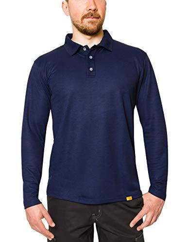 iQ-UV Herren Langarm Polo Shirt, royalnavy, M -