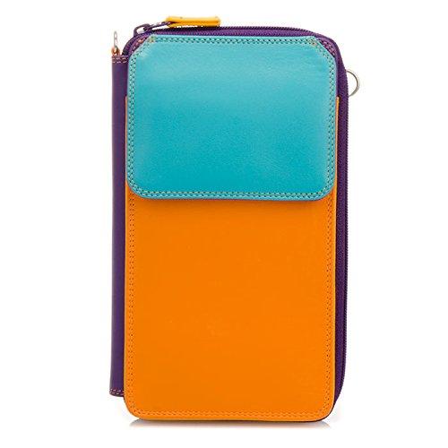 MyWalit Portefeuille Zip en cuir rond multi Sac à bandoulière 1220 Multicolore - Copacabana