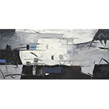 Artestock Cuadro Abstracto Fresno, Lienzo, Multicolor, 140x70x3 cm