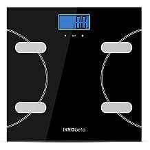 InnoBeta Fitfy Basic Basculas de Baño Inteligente Báscula grasa corporal Pesos Digital con dibujo Calculadora del