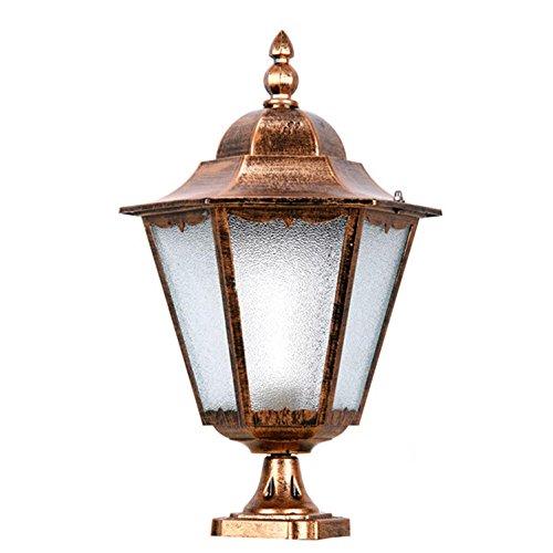 AMZH Outdoor Glas Wandleuchte Zaun Lampe Kopf Lampe Wasserdichte Tür Lampe Garten Licht europäischen Garten, Trumpet Bronze