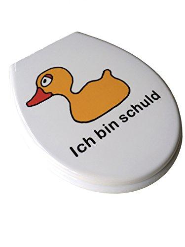 ADOB Duroplast WC Sitz Klobrille Modell Ente mit Absenkautomatik zur Reinigung abnehmbar, 59873