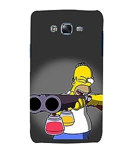 Vizagbeats Man aiming Color Gun Back Case Cover for Samsung Galaxy J7 J700F