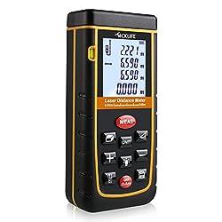 Tacklife Advanced A-ldm02 60 Laser Entfernungsmesser Distanzmessgerät (Messbreich 0,05~60m±2mm Mit Lcd Hintergrundbeleuchtung, Staub- Und Spritzwasserschutz Ip 54)