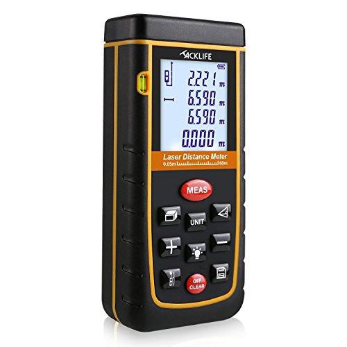 Télémètre Laser Tacklife Numérique 60m avec LCD Rétro-éclairage
