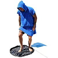 COR Surf Cambio del traje de la toalla con capucha | Azul oscuro | Un tamaño para todos | Perfecta para cambiar fuera de su Westuit