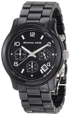 Michael Kors MK5162 de cuarzo para mujer con correa de cerámica, color negro