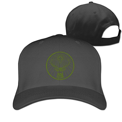trithaer-adult-jagermeister-deer-cross-hunting-fitted-peak-cap