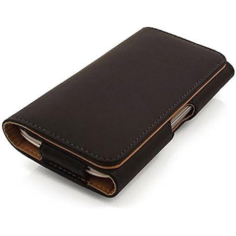 Premium in pelle sintetica con passante per cintura per Samsung Galaxy S3/S4, con cuciture di alta qualità con rivestimento marrone, i9300, i9500)