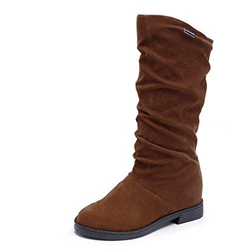 Stiefel Damen Schuhe SUNNSEAN Damenstiefel Autumn Winter Boots Süße Stiefel Stilvolle Flache Flock...