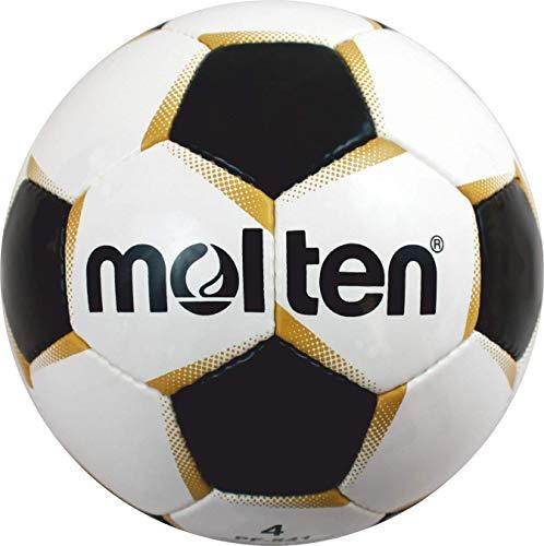 Molten PF-541 - Pallone da calcio taglia 4, colore: Bianco/Oro/Nero