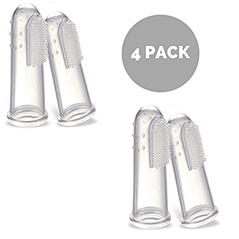 Pet Finger Toothbrush for Dogs and Cats Teeth. Perfect Dog and Cat Dental Care Kit. If you need toothbrushes for your dogs and cats this is perfect as a teeth cleaner for most cats and dogs … (4 Pack)