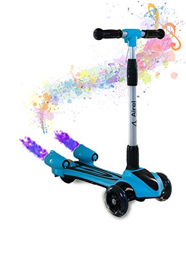 Airel Patinete 3 Ruedas | Scooter para Niños Plegable | Scooter para Niños con Música y Vapor | Patinete con Luces | Scooter para Niños | Patinete para Niños de 3-8 Años