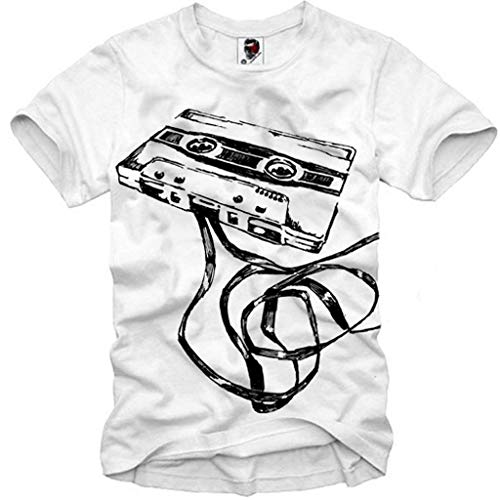 E1SYNDICATE T-SHIRT DEMO TAPE COMPACT CASSETTE DJ MC VJ ANALOG AUDIO STEREO S-XL