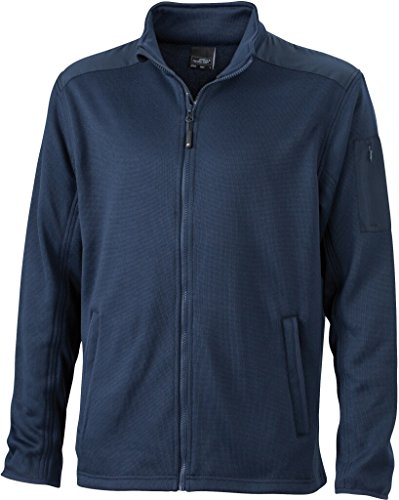 JAMES & NICHOLSON Superweiche, warme Strickfleecejacke Navy/Navy