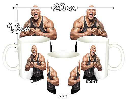 MasTazas Dwayne Johnson Tasse Mug (Johnson Dwayne Messungen)