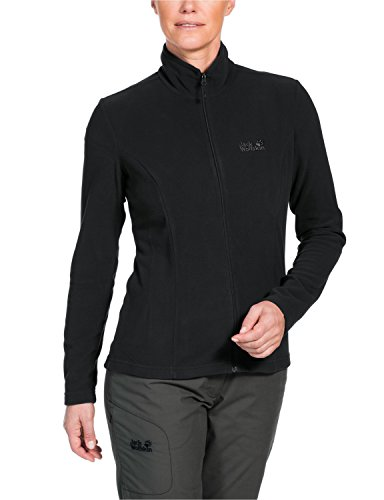 Jack Wolfskin Damen Fleece Jacke Gecko Jacket, Black, M, 1703161-6000003