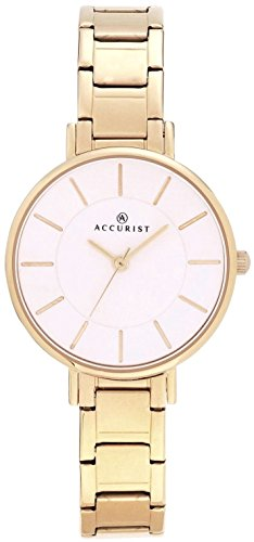 Accurist 8145Bracelet plaqué or montre pour femme