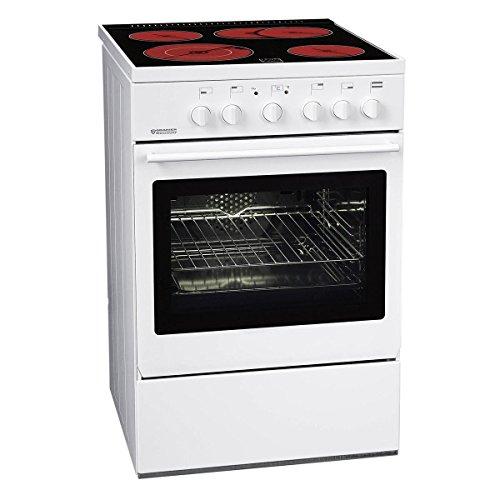 Oranier FUE 2555 Gaskochfeld Kombi Stand Elektroherd Weiß Backofen Herd Küche