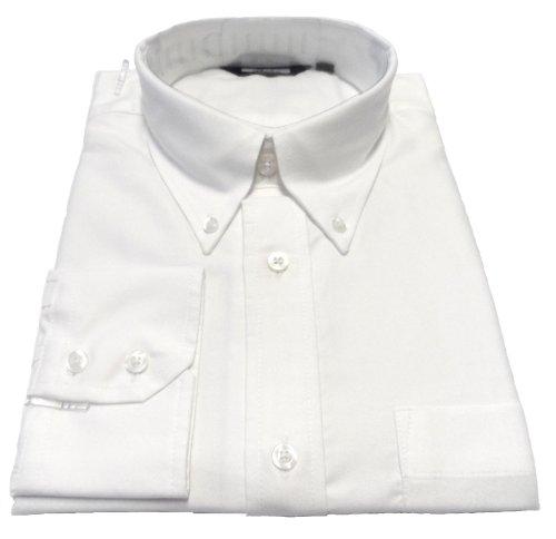 Relco oxford Long Sleeve Vintage/Retro Motiv Button-Down-Hemd Weiß - Weiß