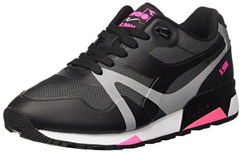 diadora-n9000-bright-protection-pompes-a-plateforme-plate-homme-noir-nero-nero-rosa-fluo-38-eu