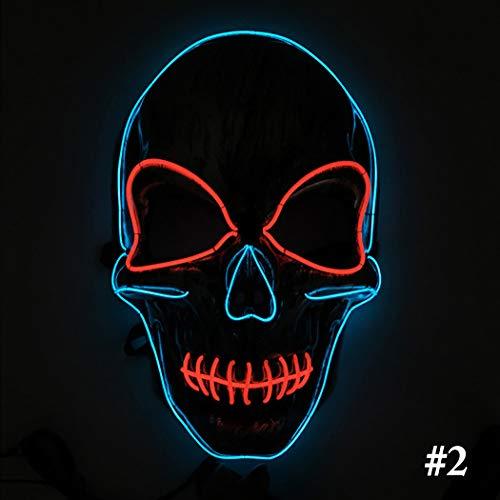 Halloween Maske Skeleton Kopf LED leuchten Mardi Gras Maske Cosplay Maske