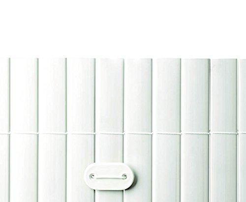 Befestigungsset für PVC Sichtschutzmatten weiß, 26 Stück - Sichtschutzzäune Sichtschutzwand Gartensichtschutz Balkonsichtschutz Winschutz Sichtschutzwand für Garten und Terasse Blichschutz für Balkon Sichtschutzwände Sichtschutzwände, WPC Sichtschutz </p> --> großes Sortiment an Sichtschutz, Bambus, Schilf und Naturprodukte für Garten