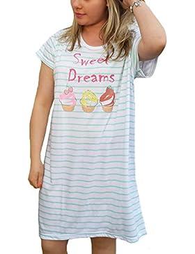 TopsandDresses -  Camicia da notte  - Maniche corte  - Donna
