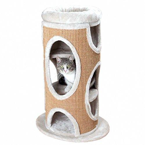 Trixie 44705 Cat Tower Osana, 86 cm, lichtgrau/braun (Cat Plüsch Tower)