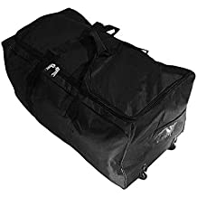 Bolsa de viaje deportes maleta trolley grande 140L con ruedas. Talla XXL.  Negro 16b0a72531360