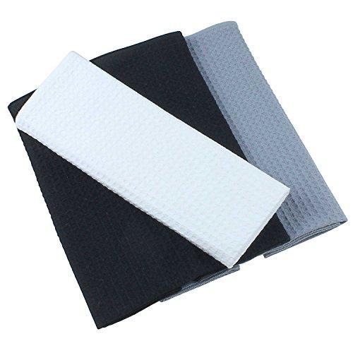 set-de-3-torchons-100-coton-gaufre-de-pique-en-uni-noir-gris-et-blanc-50-x-70-cm-belle-design-servie