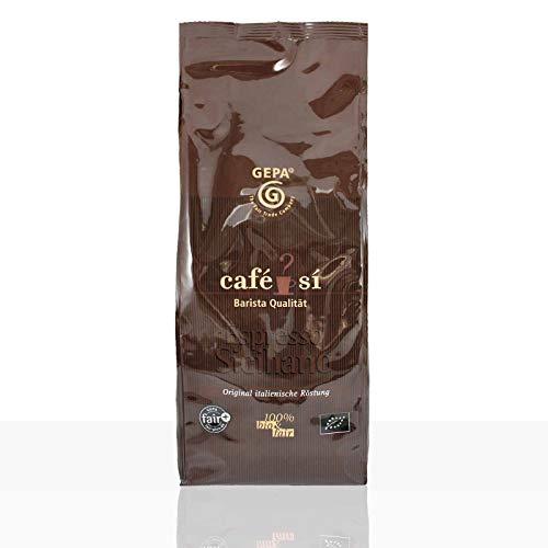 Gepa Cafe Si Espresso Siciliano - 1kg ganze Kaffee-Bohne