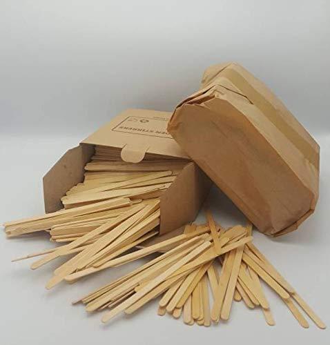 Palitos de madera para remover café, té, bebidas calientes y frías, para vasos para llevar, 140 mm, 1000 unidades