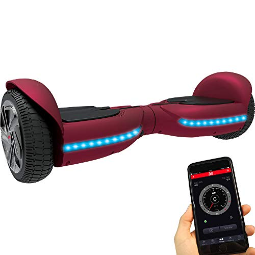 Twodots Hoverboard UL 2272 Glyboard PRO Red, Red, 63x24x23