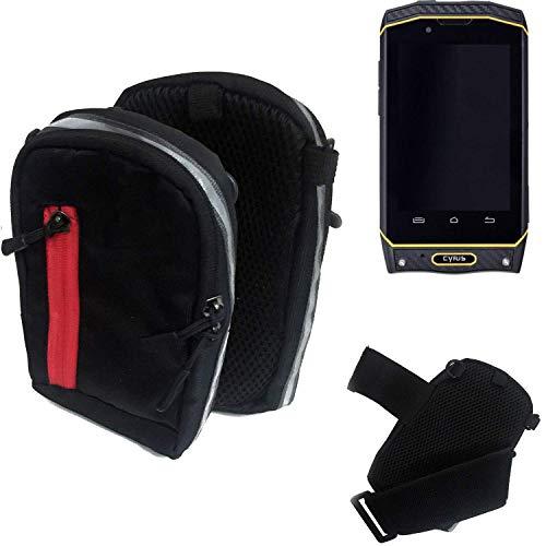 K-S-Trade Outdoor Gürteltasche Umhängetasche für Cyrus CS 19 schwarz Handytasche Case travelbag Schutzhülle Handyhülle