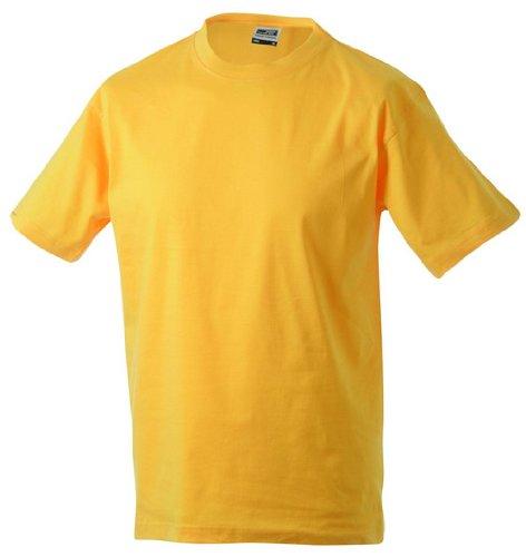 Round di t shirt Medium/James & Nicholson (JN 001) S M L XL XXL giallo oro