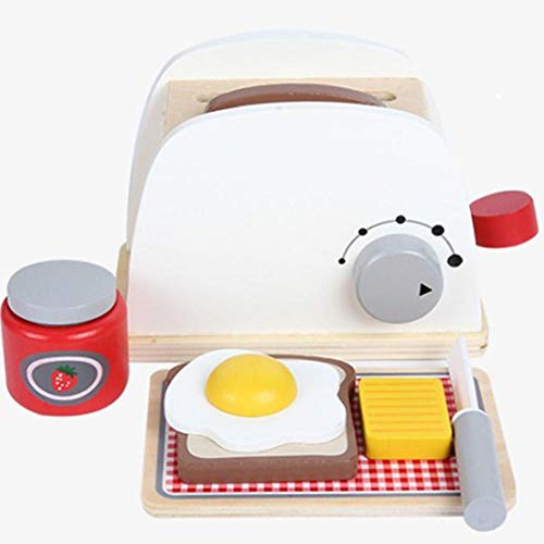 elzeug Holz Mini Bread Machine Omelett-Maschine - Kinder Haushalt-Spielzeug Geschenk ()