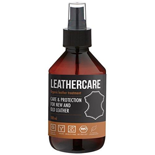 LeatherCare Bio Lederreiniger I 100 ml Premium Lederpflege Auto & Motorrad I Ideale Lederpflege für Ledercouch I Polsterreiniger für Zuhause I Sauber & strahlend I Imprägnierend -