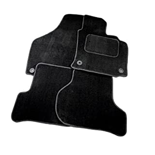 Fiat 500L 2013 - Onwards Full Set Of 4 Black Velour Custom Exact Fit Car Carpet Floor Mats Fiat Fixings By AoE Performance™