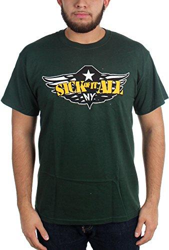 Sick Of It All-Army-Maglietta da uomo verde