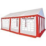 vidaXL Carpa de Jardín de PVC 4x6m Rojo y Blanco Pabellón Cenador ...