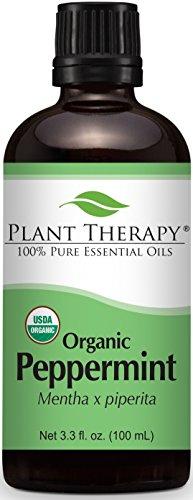 La menta orgánica aceite esencial 100 ml 100% puro, sin diluir, Grado Terapéutico