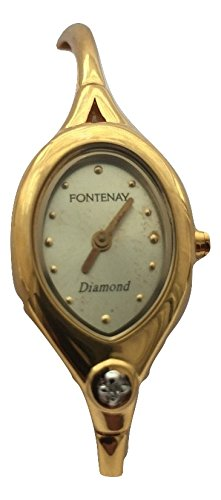 fontenay-oval-de-la-mujer-dial-18-kt-chapado-en-oro-con-un-autentica-diamond-bangle-watch