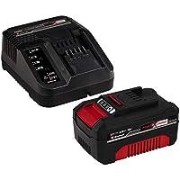 Einhell 4512042 - Kit con Cargador y batería de repuesto de 18 V, 4 Ah, 0 W, 21 V, 4.0, Tiempo de Carga: 60 Minutos, Negro, Rojo