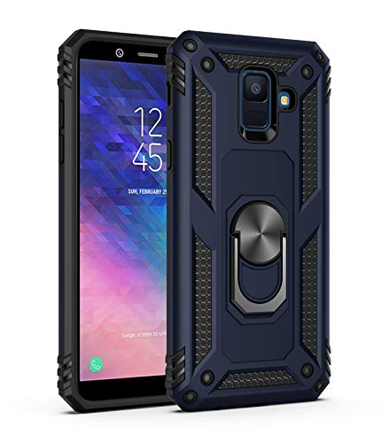 Wubaouk Samsung Galaxy A6 Plus 2018 Hülle with Ring Holder, Rotating Kickstand Stand for Car Magnetic Mount Slim Soft Shockproof Silicone Gel TPU Phone Cover for Samsung Galaxy A6 Plus 2018 Slim Mount Speakers