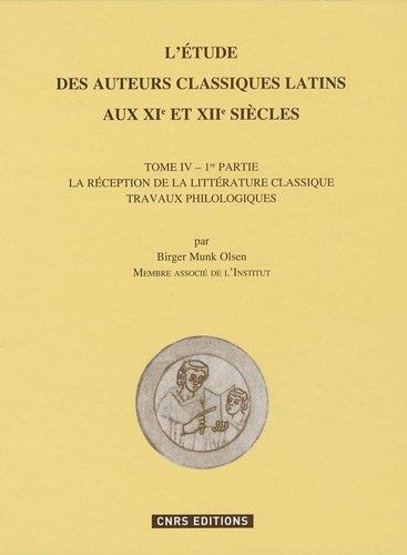 Etude des auteurs classiques latins au XIe et XIIeme siècles